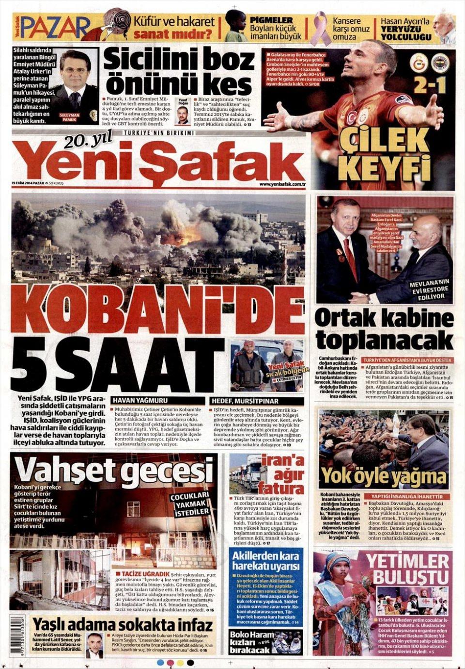 19 Ekim 2014 gazete manşetleri 7