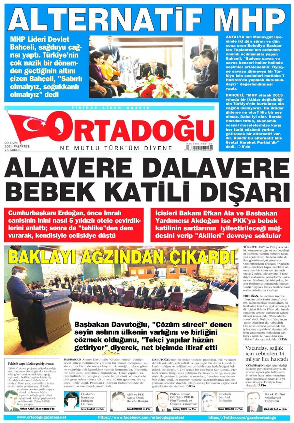 20 Ekim 2014 gazete manşetleri 13