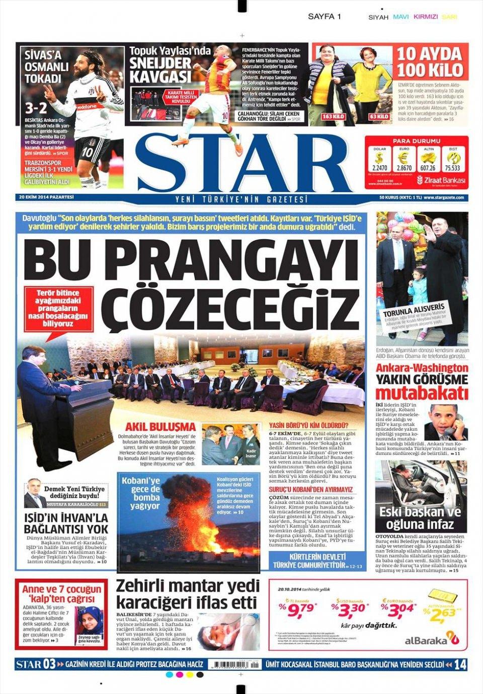 20 Ekim 2014 gazete manşetleri 17