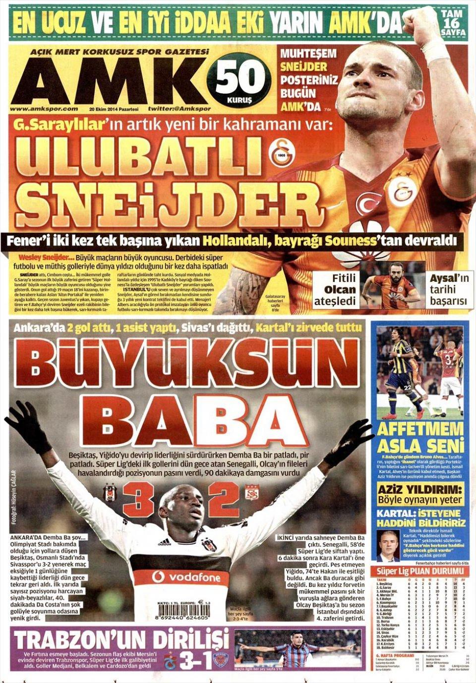 20 Ekim 2014 gazete manşetleri 2