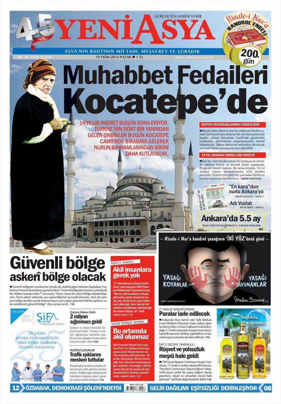 20 Ekim 2014 gazete manşetleri 23