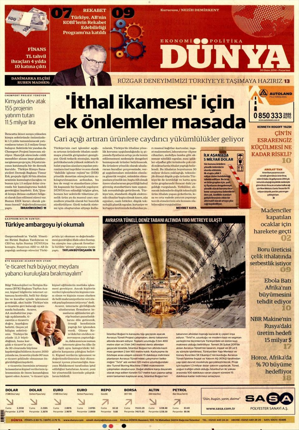 20 Ekim 2014 gazete manşetleri 5