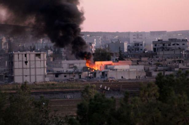 IŞİD Kobani'yi alev topuna çevirdi 11