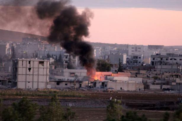 IŞİD Kobani'yi alev topuna çevirdi 9