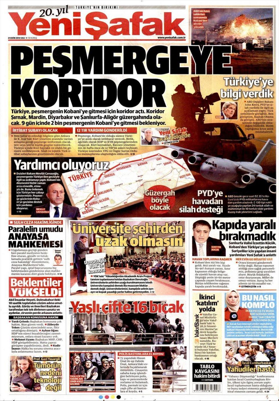 21 Ekim 2014 gazete manşetleri 23
