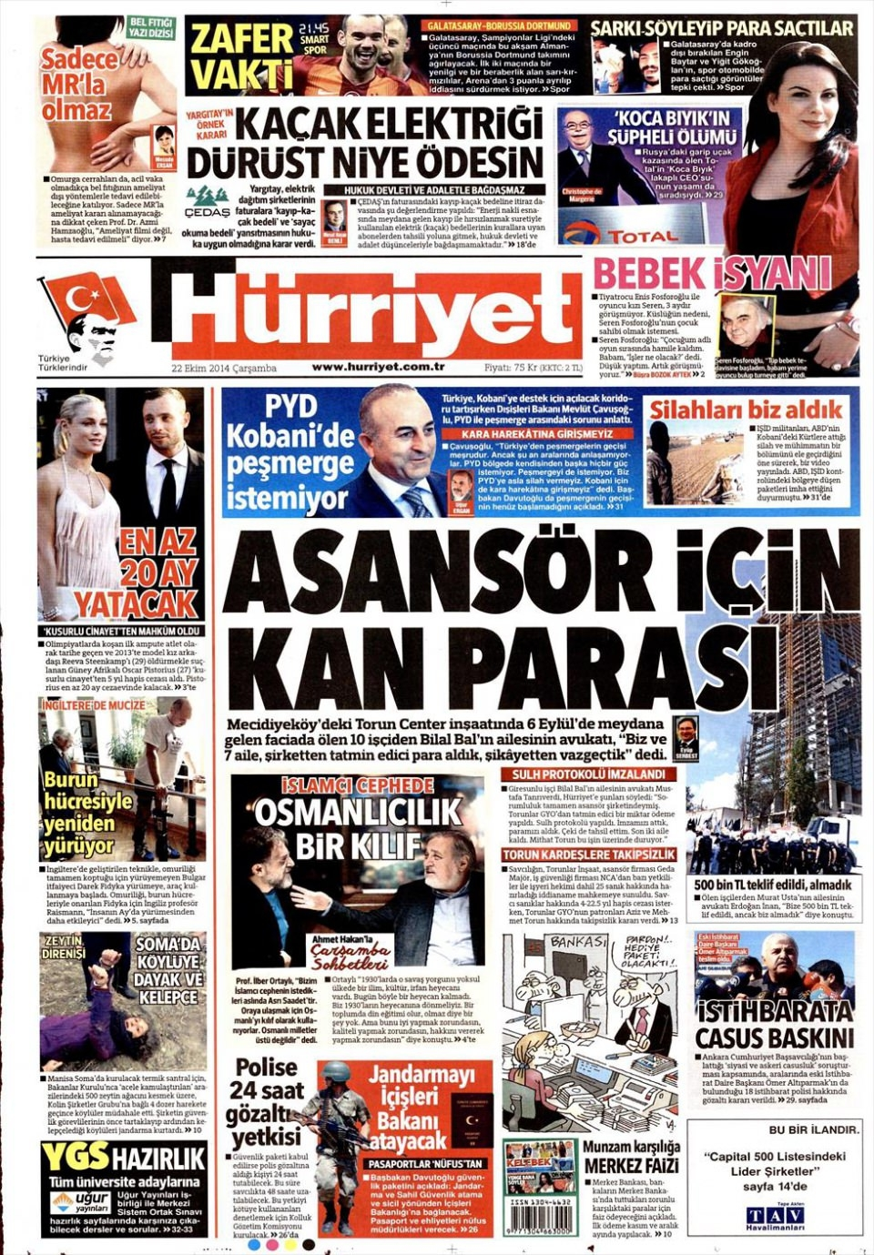 22 Ekim 2014 gazete manşetleri 10