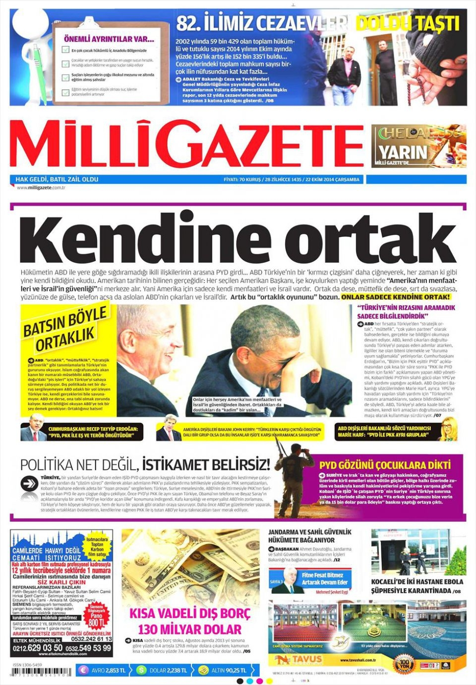 22 Ekim 2014 gazete manşetleri 11