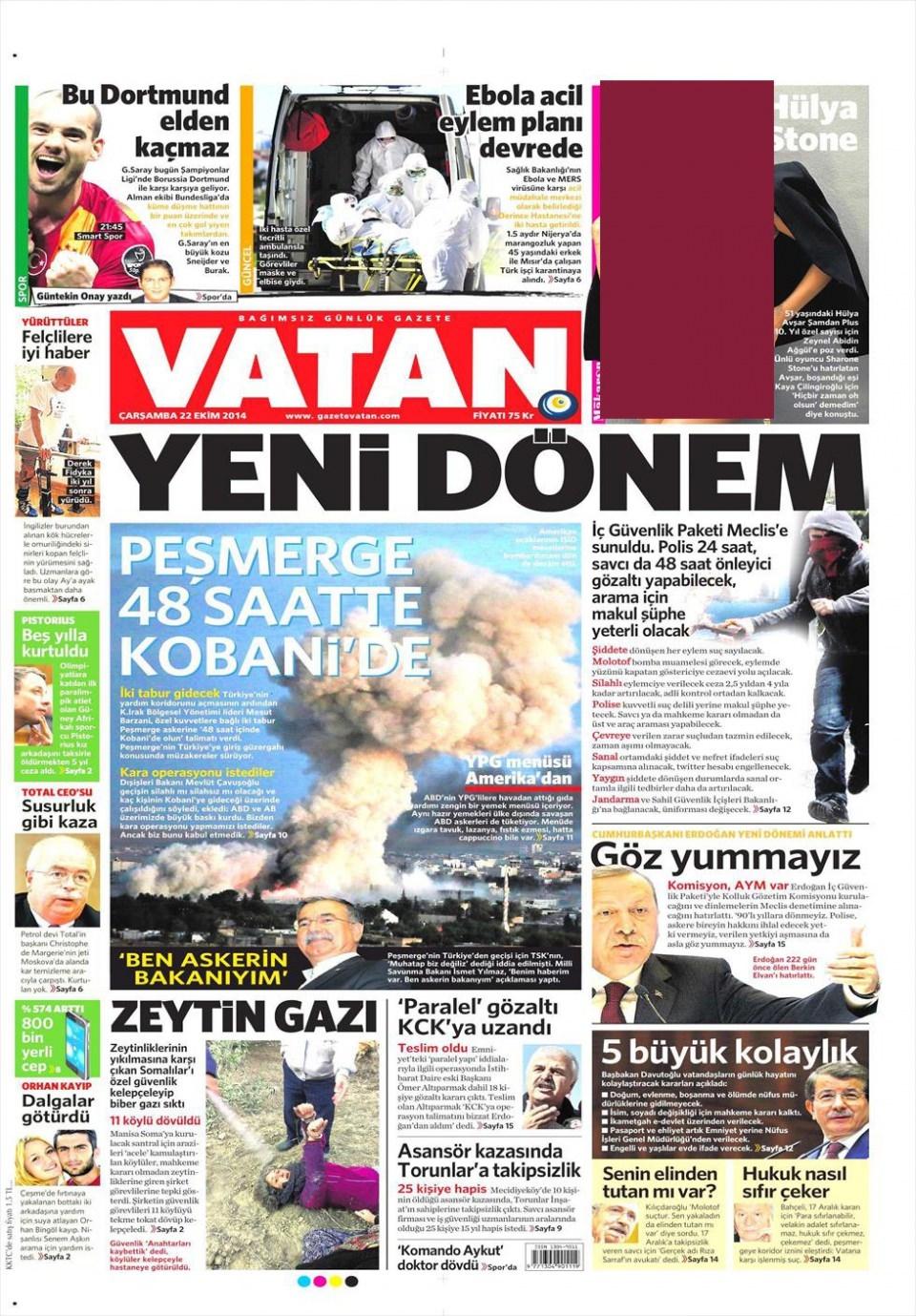 22 Ekim 2014 gazete manşetleri 21
