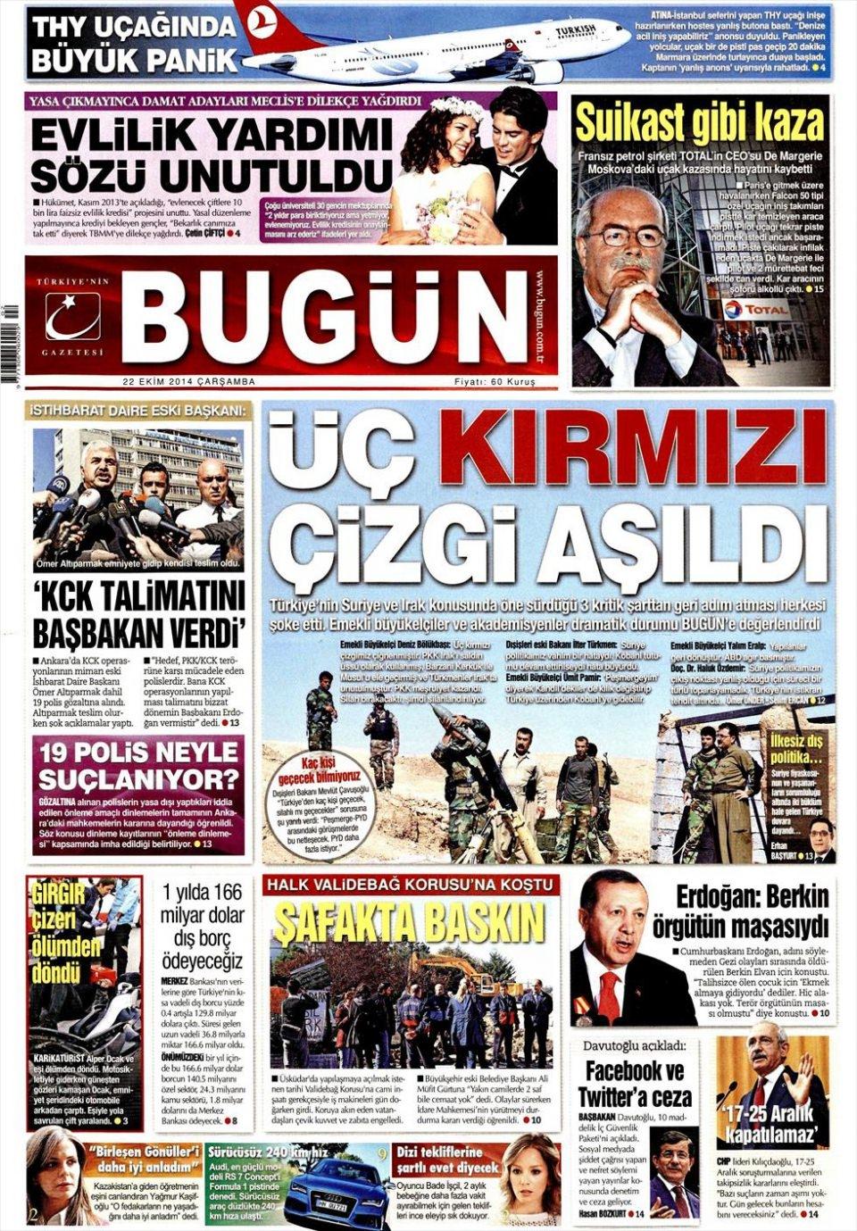 22 Ekim 2014 gazete manşetleri 3