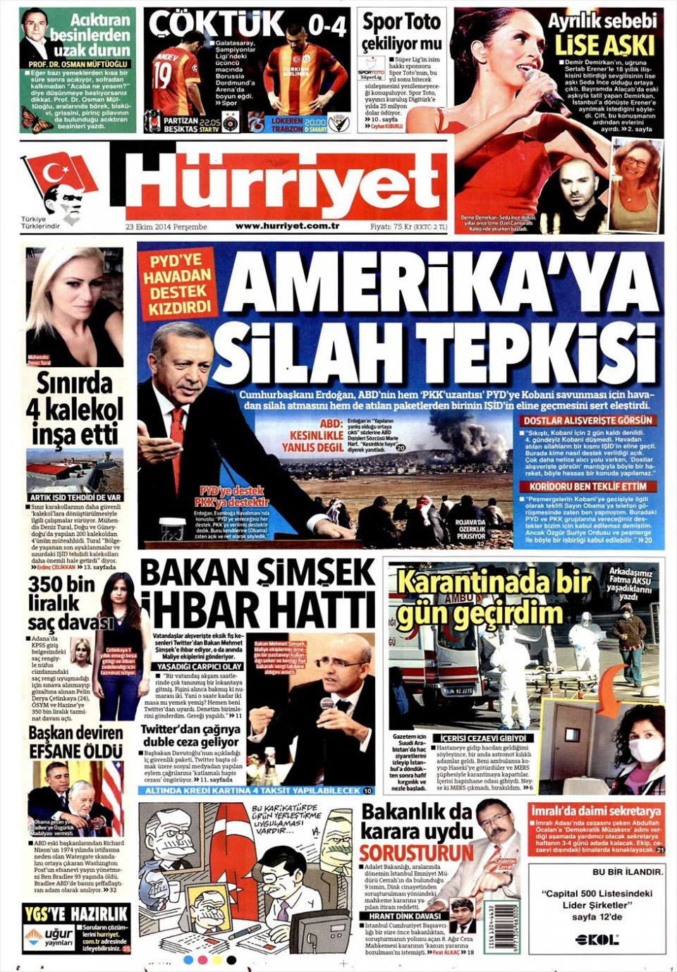 23 Ekim 2014 gazete manşetleri 10