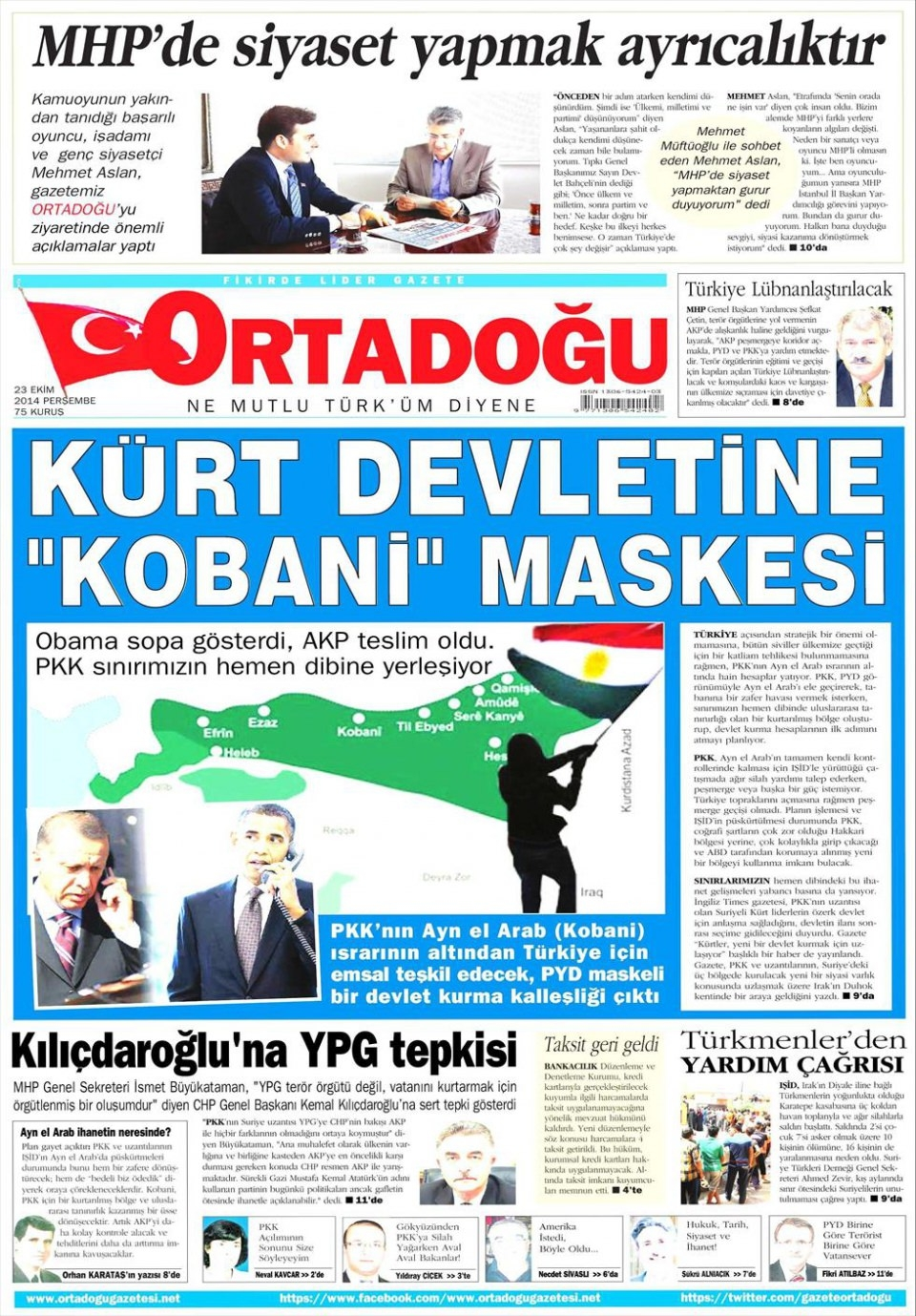 23 Ekim 2014 gazete manşetleri 13
