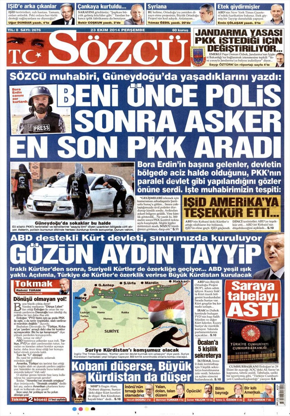 23 Ekim 2014 gazete manşetleri 15
