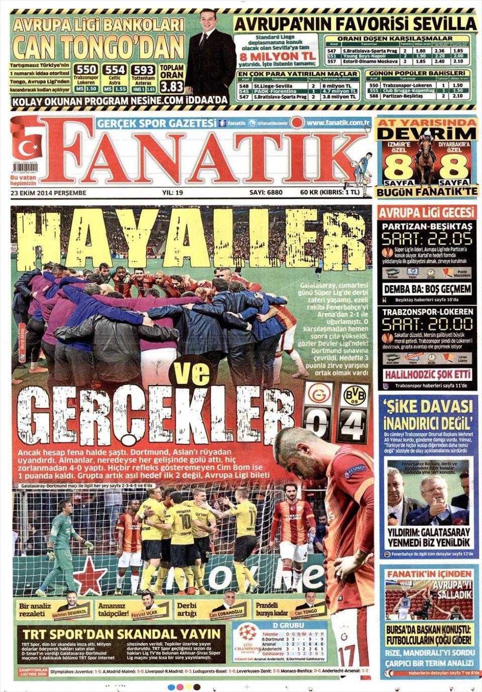 23 Ekim 2014 gazete manşetleri 6