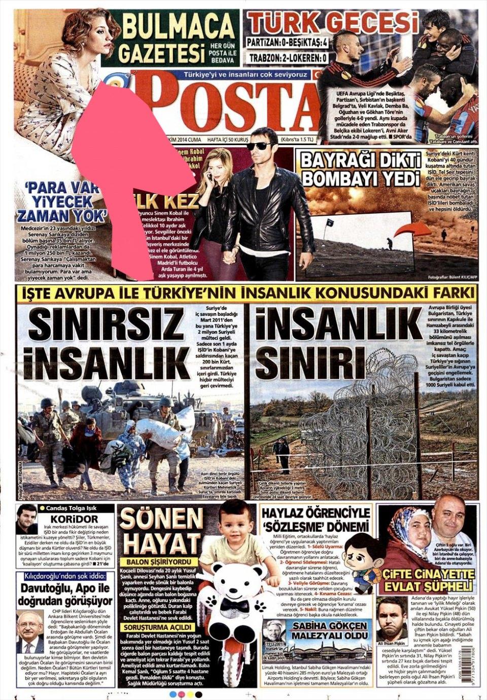24 Ekim 2014 gazete manşetleri 14