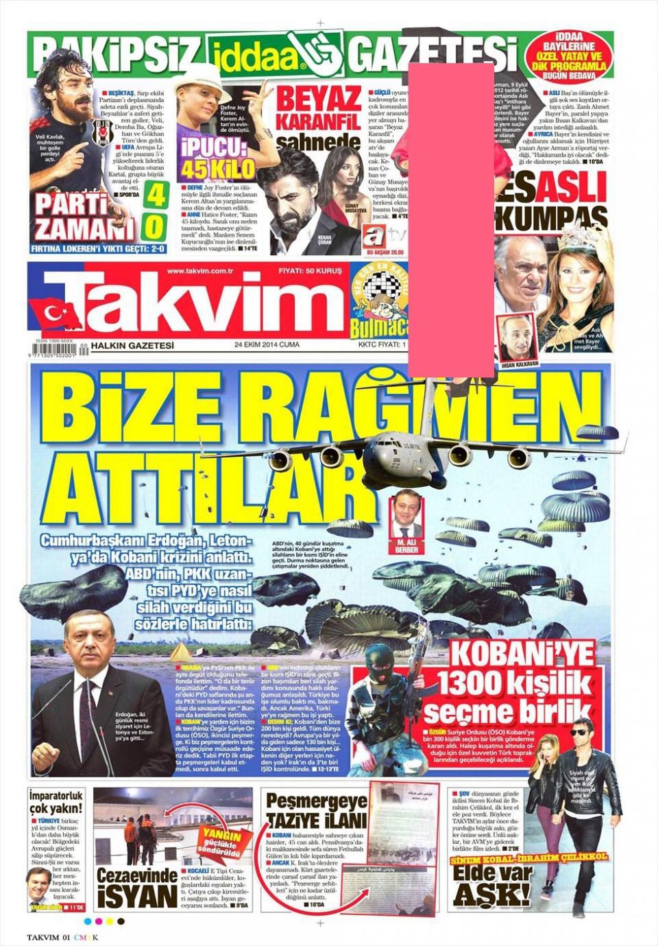 24 Ekim 2014 gazete manşetleri 18