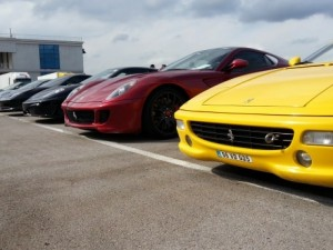 Ferrariler hızını göstermek için İstanbul'da
