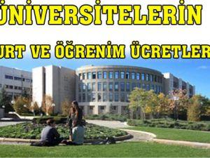 Üniversitelerin yurt ve öğrenim ücretleri