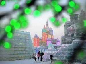 Buzdan şehir yaptılar