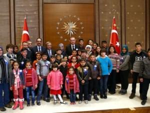 Erdoğan çocukları makamında kabul etti