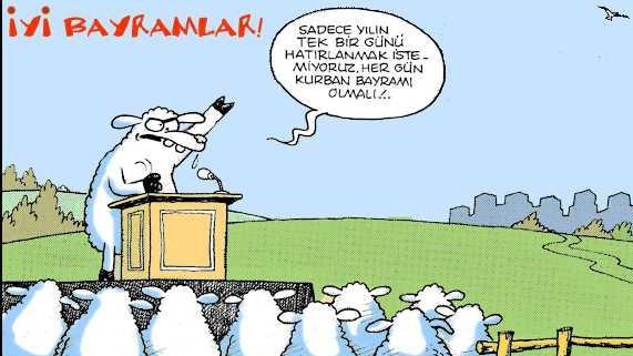 Kurbanlık karikatürler tam şenlik! 20