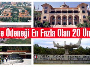 İşte bütçe ödeneği en fazla olan 20 üniversite!