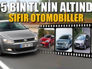 35 Bin TL'nin Altındaki Sıfır Otomobiller