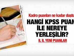 Hangi KPSS puanı ile nereye yerleşilir?