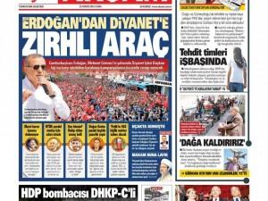 22 Mayıs 2015 gazete manşetleri