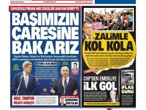 30 Haziran 2015 gazete manşetleri