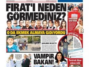 1 Eylül 2015 gazete manşetleri