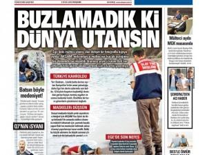 3 Eylül 2015 gazete manşetleri