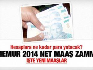 Memurların 2014'te alacağı net maaş zammı!
