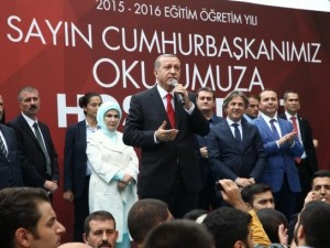Erdoğan, mezun olduğu okulda