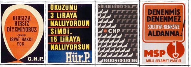 Tarihi seçim afişleri 1