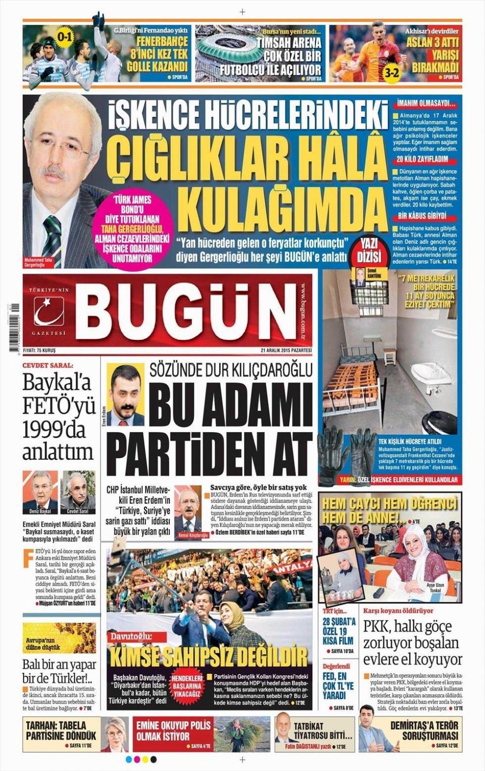 21 Aralık 2015 gazete manşetleri 27