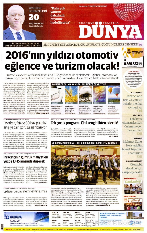 21 Aralık 2015 gazete manşetleri 28