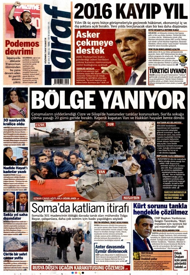 22 Aralık 2015 gazete manşetleri 20