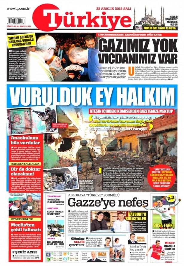 22 Aralık 2015 gazete manşetleri 21