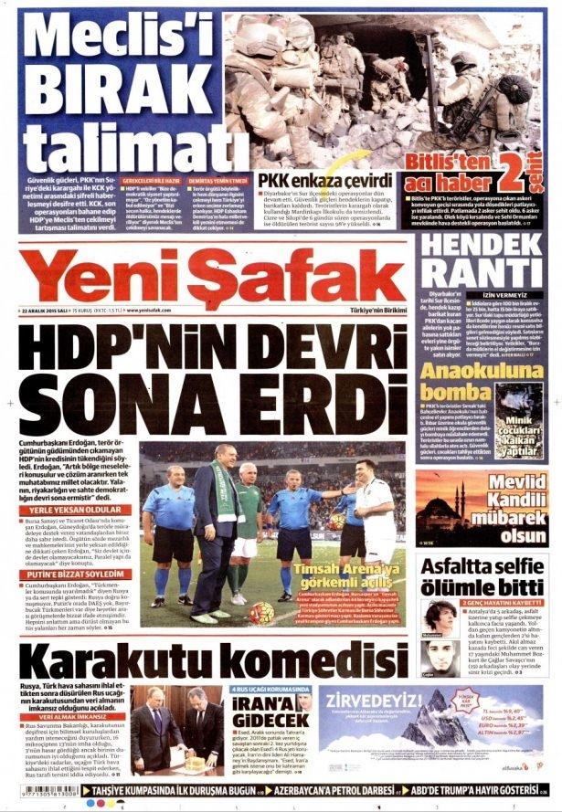 22 Aralık 2015 gazete manşetleri 27
