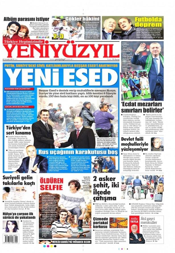 22 Aralık 2015 gazete manşetleri 29