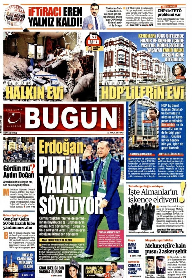 22 Aralık 2015 gazete manşetleri 4
