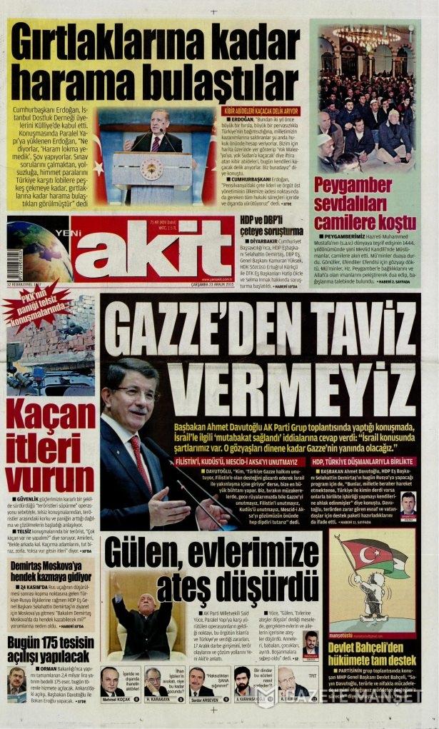 23 Aralık 2015 gazete manşetleri 18