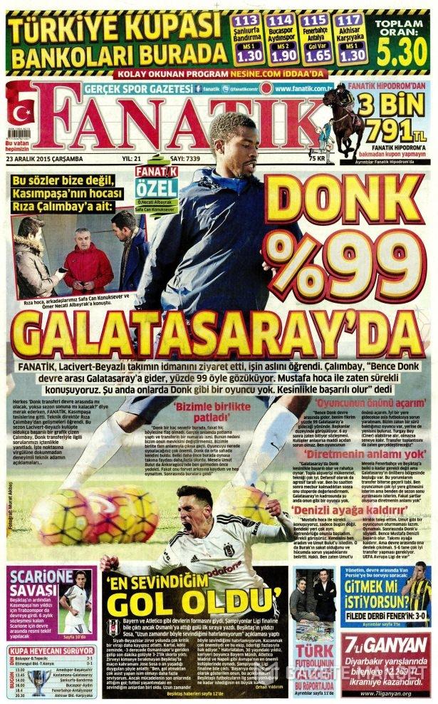 23 Aralık 2015 gazete manşetleri 26