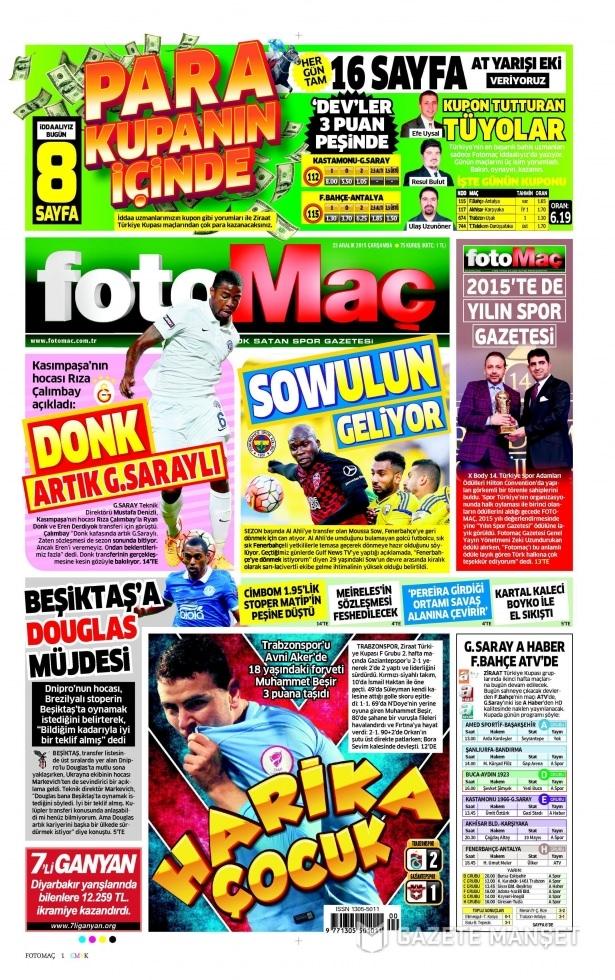 23 Aralık 2015 gazete manşetleri 27
