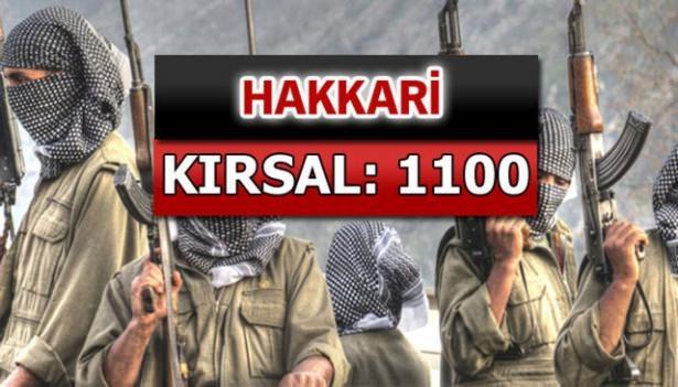 İşte PKK'lı hainlerin il il dağılımı 37