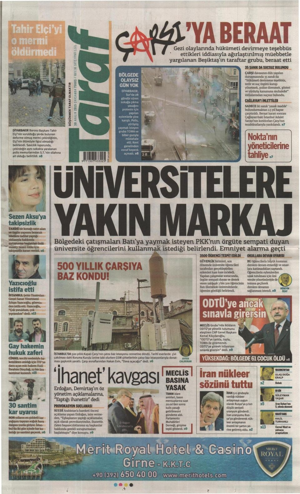30 Aralık 2015 gazete manşetleri 27