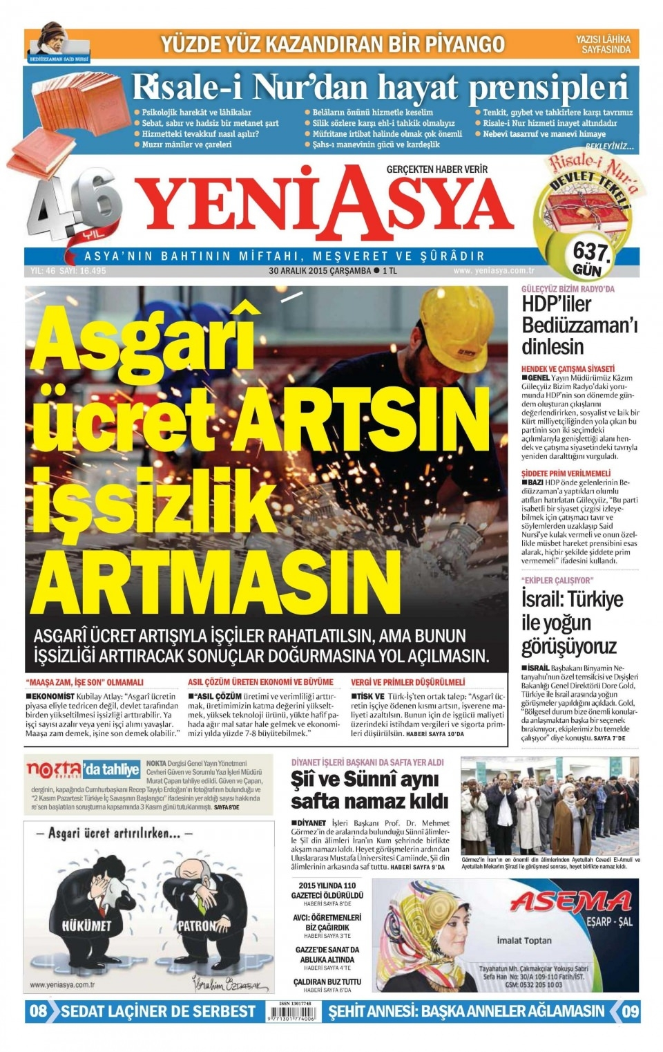 30 Aralık 2015 gazete manşetleri 32