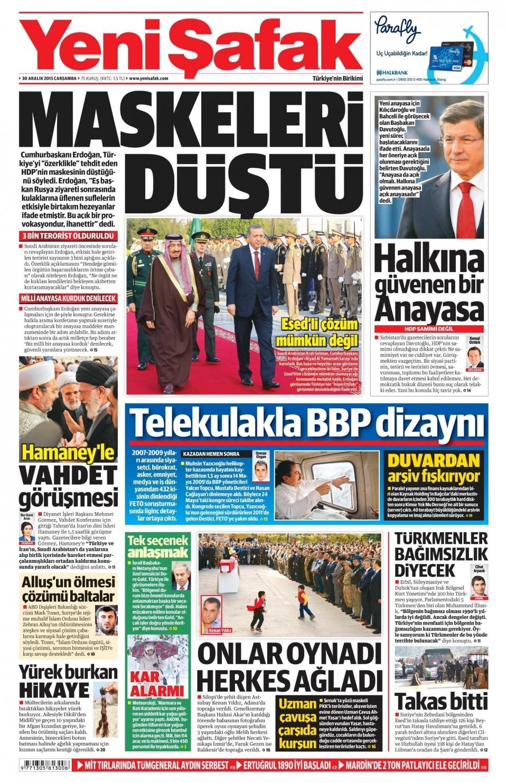 30 Aralık 2015 gazete manşetleri 34