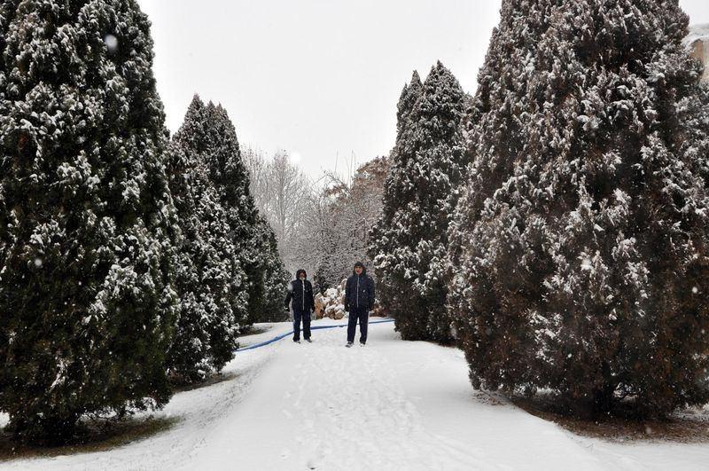İşte yurttan kar manzaraları... 126