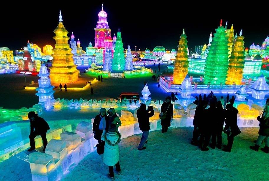 Çin'de Buz ve Kar Festivali 32